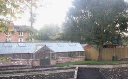 Large kitchen garden at Hawthorne Hall