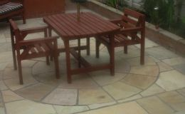 Sandstone paving, coping and circle kit